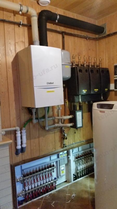 монтаж системы отопления акбердино 170 м2