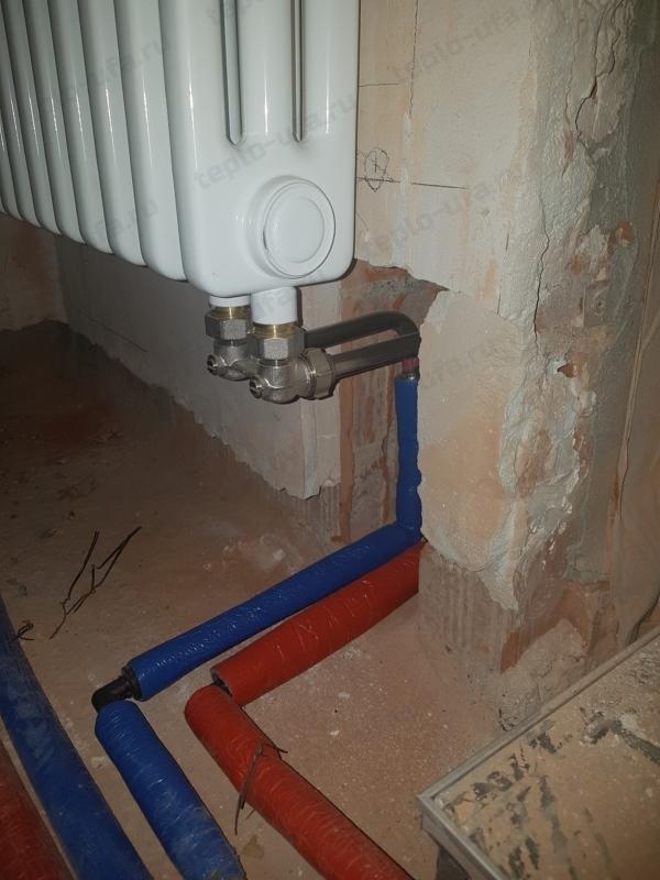 монтаж радиатора отопления сосны 75 м2
