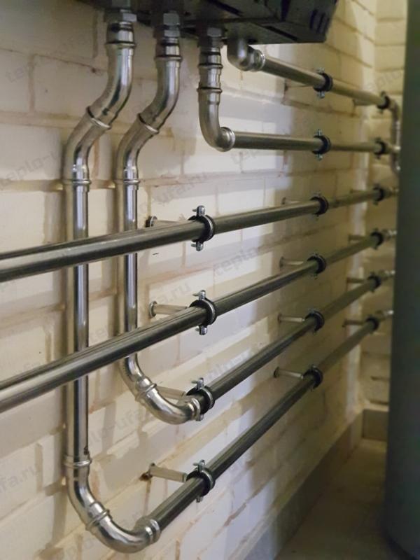 монтаж труб отопления иглино