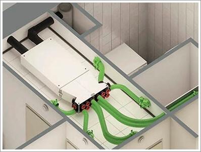 монтаж вентиляции в потолок