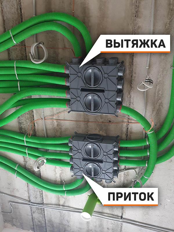 монтаж вентиляции в потолке